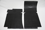 C3 Corvette 1968-1982 Rubber Floor Mats - Black w/ Logo