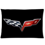 C6 Corvette 2005-2013 Custom Flag Logo Pillow Case
