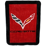C7 Corvette 2014-2019 Soft Raschel Plush Throw Blanket