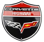 C6 Corvette 2005-2013 Shield Sign