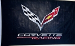 C7 Corvette 2014+ Corvette Racing Indoor / Outdoor Banner - Black
