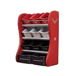 C7 Corvette 2014+ Logo Room Organizer - Red / Black / Gray