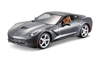 C7 Corvette Stingray 2014 Diecast Model Assembly Kit - Silver