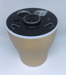 Multi-Function Energy Cup Holder Bluetooth Speaker w/ Dual Cigarette Lighter Adapter & Dual USB Ports - Gold