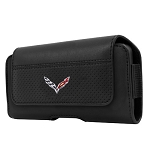 C7 Corvette Stingray/Z06/Grand Sport 2014+ Leather Belt Case w/ Crossed Flags - Medium / Large