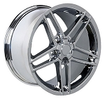 C4 Corvette 1988-1996 C6 Z06 Style Wheels Set - 17in. 18in. 19in. - Chrome/Black/Silver