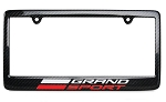C7 Corvette 2014-2019 Carbon Fiber License Plate Frame with Grand Sport Logo