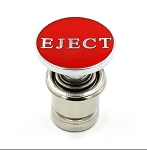 Red 12V Cigarette Lighter Button Accessory - Multiple Text Options