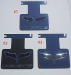 C6 Corvette Exhaust Plates Carbon Fiber/ Colored Blackout Options - Works On Non-NPP Systems
