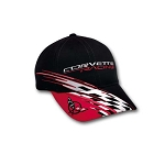 C5 Corvette 1997-2004 Racing Checkered Bill Cap - Black