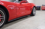 C6 Corvette 2005-2013 ZR1 Style Side Skirts with Mud Flaps - Carbon Fiber