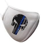 Heroes Punisher Skull Face Mask - Single Logo Selection - White or Black