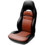 C5 Corvette 1997-2004 Leather Seat Covers - Sport Seat - Two-Tone Colors