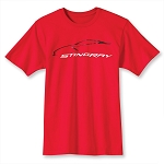 C7 Corvette Stingray 2014+ Car Gesture T-Shirt - Red