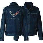 C7 Corvette 2014-2019 Stingray Rhinestone Denim Jacket - 3XL