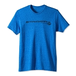 C7 Corvette Stingray 2014+ Straight T-Shirt With Script - Royal Blue