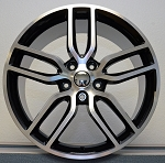 C7 Corvette Stingray Machined OEM Style Z51 Wheels - Fitment For C6 C7 2005-2014+ 18x8.5 / 19x10