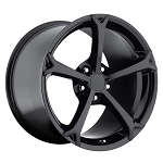 C6 Corvette 2005-2013 Grand Sport Style Wheel Set Gloss Black 18x9.5/19x12