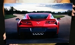 C7 Corvette 2014+ Red Rear Corvette Metal Sign