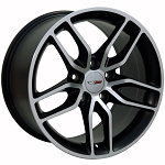 C5 Corvette 1997-2004 Z51 C7 Corvette Machined OEM Style Wheels - 17x9.5 / 18x10.5