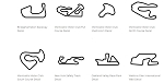 North America Track Outline Decals - New York - Size & Color Selection