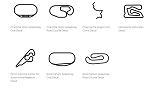 North America Track Outline Decals - North Carolina - Size & Color Selection