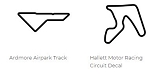 North America Track Outline Decals - Oklahoma - Size & Color Selection