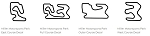 North America Track Outline Decals - Utah - Size & Color Selection