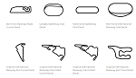North America Track Outline Decals - Virginia - Size & Color Selection