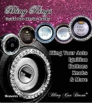 Bling Rings Crystal Rhinestone Car Decor - Color Options
