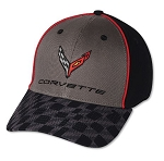C8 Corvette 2020+ Next Generation Script and Logo Carbon Flash Checkered Bill Cap