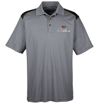 C2 Corvette 1963-1967 Officially Licensed Polo - Vintage Grey / Black