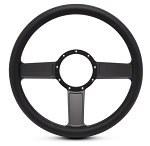 Linear Billet Steering Wheel w/ Matte Black Spokes - Color Options