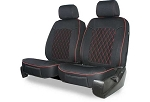 Universal Genuine Neoprene Diamond Designed 1 Piece Double Cap Seat Cover- Color Options