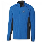 C7 Corvette 2014-2019 Colorblock Half Zip Men's Jacket - Royal/Black
