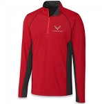 C7 Corvette 2014-2019 Colorblock Half Zip Men's Jacket - Red/Black