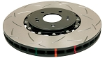 C5 C6 Corvette Base/Z06 1997-2012 DBA Front T3 5000 Series Slotted Assembled Rotor w/ Black Hat