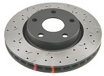 C5 C6 Corvette Base/Z06 1997-2012 DBA 4000 Series Drilled/Slotted Rotor - Side Option