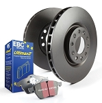 C4 Corvette Base/ZR1/Grand Sport 1983-1996 EBC Ultimax2 Rear Brake Pads and Premium Rotors