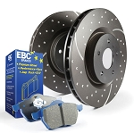 C4 Corvette 1984-1987 Stage 6 EBC Slotted/Drilled Rotors w/ Blue Brake Pad Kit - Year/Side Option