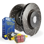 C6 Corvette Z06 2006-2008 Stage 5 EBC Slotted/Drilled Rotors w/ Yellow Brake Pad Kit - Side Option