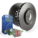 C4 Corvette 1988-1996 Stage 11 Front HD Susension Rotors w/ Green Brake Pad Kit