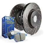 C6 Corvette Base/Z06/Grand Sport 2009-2013 Stage 6 EBC Front Slotted/Drilled Rotors w/ Blue Brake Pad Kit