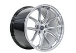 C6 C7 Corvette Base/Z06 2006-2019 Forgeline F01 Liquid Silver Wheel Set - 19x10/20x12