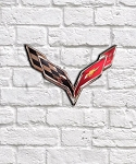 C7 C8 Corvette 2014-2020+ Stainless Steel Wall Emblem