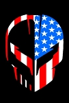 C8 Next Generation Corvette 2020+ Jake Skull American Decal
