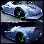 C6 Corvette 2005-2013 LED Side Marker Lenses - Paint Matched/Ghosted