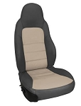 C6 Corvette 2005-2011 Two-Tone Leather and Vinyl Seat Covers - Sport Seats