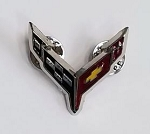 C8 Next Gen Corvette 2020+ Cross Flags Lapel Pin