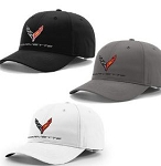C8 Next Gen Corvette 2020+ Staydri Performance Cap w/ Cross Flags Logo & Script